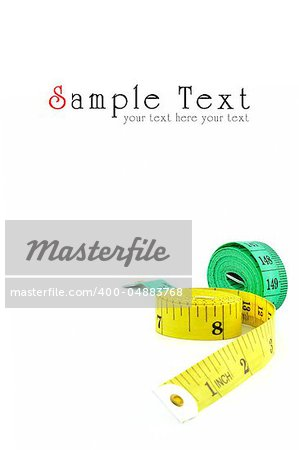 Measuring tape of the tailor isolated on white background Stock Photo - Budget Royalty-Free, Image code: 400-04883768