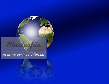 Earth with recycle symbols Stock Photo - Budget Royalty-Free, Image code: 400-04901621
