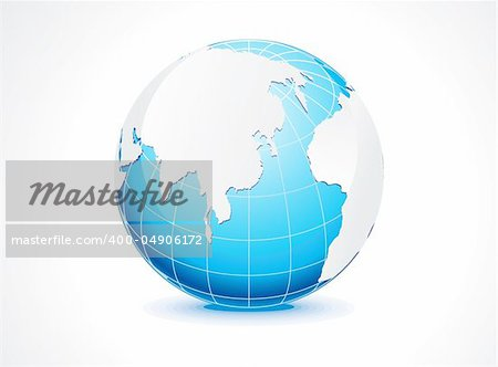 abstract blue globe vector illustration Stock Photo - Budget Royalty-Free, Image code: 400-04906172
