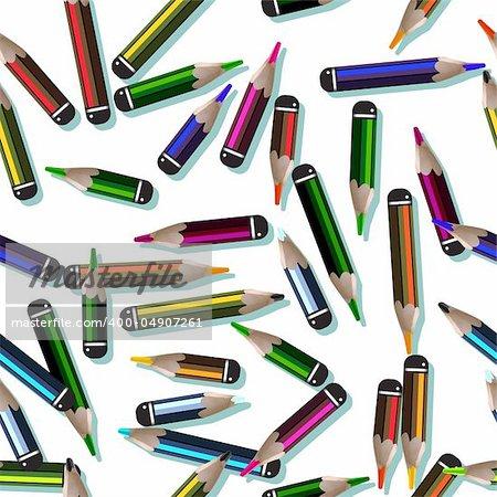 pencil pattern Stock Photo - Royalty-Free, Artist: williammpark, Code: 400-04907261