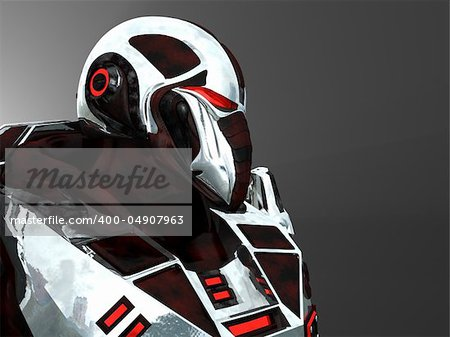 Advanced cyborg future soldier Stock Photo - Budget Royalty-Free, Image code: 400-04907963