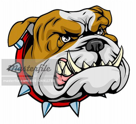 Mean looking illustration of classic British bulldog face Stock Photo - Budget Royalty-Free, Image code: 400-04911735