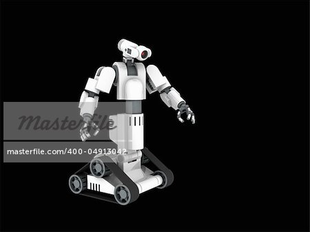 3d render of a medical robot Stock Photo - Budget Royalty-Free, Image code: 400-04913042
