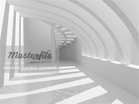 Modern hall with stairs Stock Photo - Budget Royalty-Free, Image code: 400-04918643