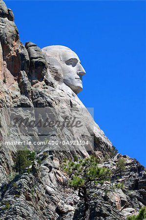 Profile view of Mount Rushmore National Memorial in the Black Hills of South Dakota. Stock Photo - Budget Royalty-Free, Image code: 400-04921194