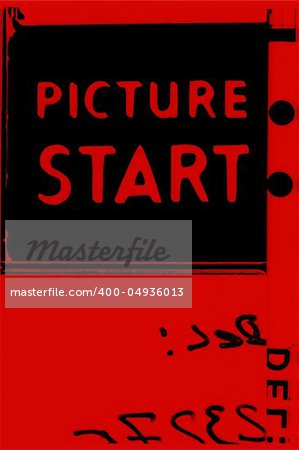 Picture start frame of 35 mm motion film Stock Photo - Budget Royalty-Free, Image code: 400-04936013