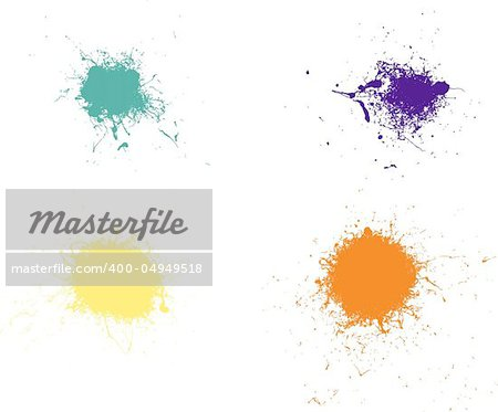4 Coloured Vector Splats Very Detailed