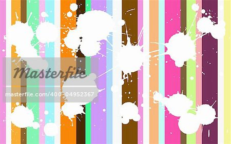 Funcy Background with white splats over the top