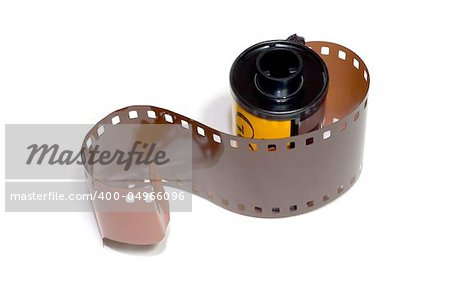 Film roll 35mm over white background Stock Photo - Budget Royalty-Free, Image code: 400-04966096
