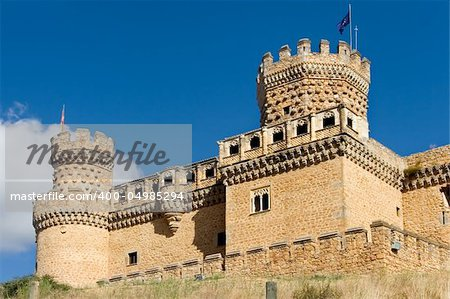 Mendoza´s palace, Manzanares el real, Madrid (Spain) Stock Photo - Budget Royalty-Free, Image code: 400-04985294