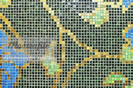 Mosaic tiles with natural motif ornament decoration