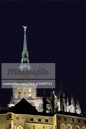 Tower of Le Mont St Michel, Normandy (France) Stock Photo - Budget Royalty-Free, Image code: 400-04987731