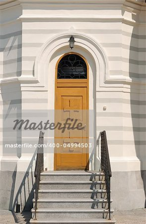 Door in Christian church. The Crimean peninsula Stock Photo - Budget Royalty-Free, Image code: 400-04994503