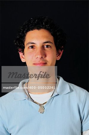 Portrait of young handsome hispanic teen male isolated Stock Photo - Budget Royalty-Free, Image code: 400-05002241