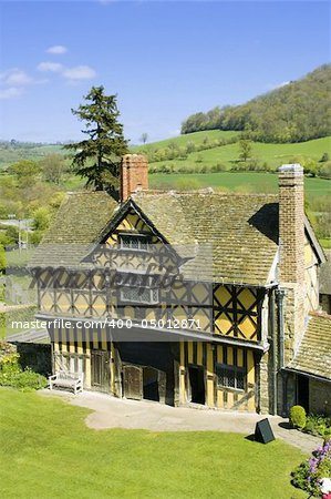 manor house stokesay castle shropshire england uk Stock Photo - Budget Royalty-Free, Image code: 400-05012871