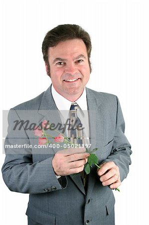 A loving husband holding roses for his sweet-heart. Stock Photo - Budget Royalty-Free, Image code: 400-05021897