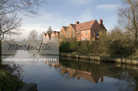 Houses next to canal or river. Stock Photo - Budget Royalty-Free, Image code: 400-05039296
