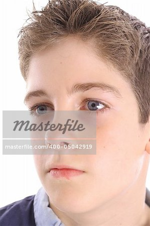 young boy profile shot Stock Photo - Budget Royalty-Free, Image code: 400-05042919