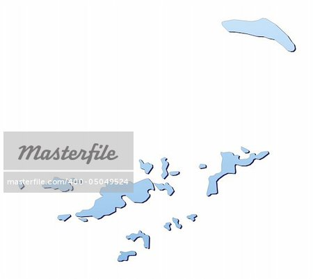 British Virgin Islands map filled with light blue gradient. High resolution. Mercator projection. Stock Photo - Budget Royalty-Free, Image code: 400-05049524