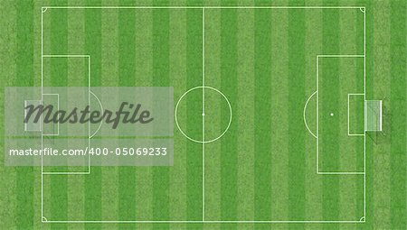 aerial view of a soccer field -3d rendering Stock Photo - Budget Royalty-Free, Image code: 400-05069233