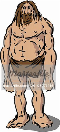 Scruffy caveman neanderthal hairy male illustration Stock Photo - Budget Royalty-Free, Image code: 400-05071416