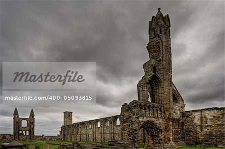 A view of the St Andrews cathedral ruins, Scotland Stock Photo - Budget Royalty-Free, Image code: 400-05093815