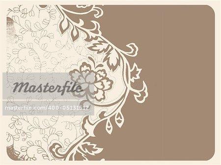 Retro/Vintage floral seamless background