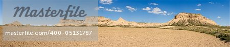 Panoramic of the Bardenas Reales, Navarra (Spain) Stock Photo - Budget Royalty-Free, Image code: 400-05131787