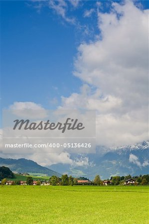 Saalfelden, beautiful town in Zell am See, Salzburg, Austria Stock Photo - Budget Royalty-Free, Image code: 400-05136426