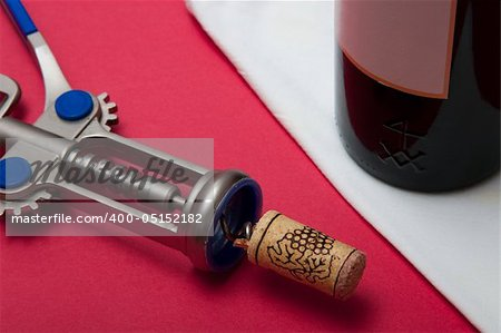 Still-life with a wine bottle Stock Photo - Budget Royalty-Free, Image code: 400-05152182