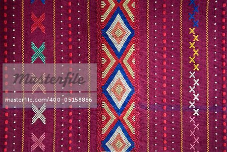 Detail of an Indonesian ulos design Stock Photo - Budget Royalty-Free, Image code: 400-05158886