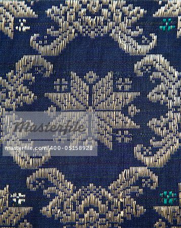 Detail of a Songket from Palembang Stock Photo - Budget Royalty-Free, Image code: 400-05158928
