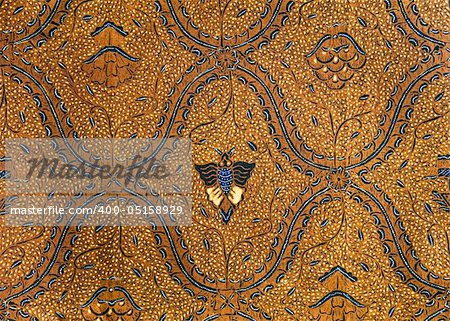 Detail of a batik design from Indonesia Stock Photo - Budget Royalty-Free, Image code: 400-05158929