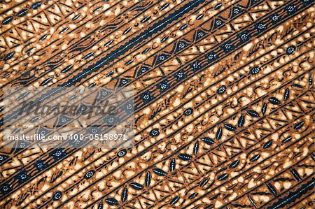Detail of a batik design from Indonesia Stock Photo - Budget Royalty-Free, Image code: 400-05158971
