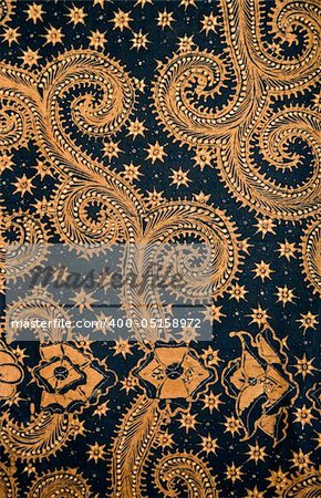 Detail of a batik design from Indonesia Stock Photo - Budget Royalty-Free, Image code: 400-05158972