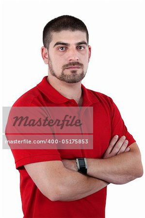 Portrait of adult men isolated over white Stock Photo - Budget Royalty-Free, Image code: 400-05175853