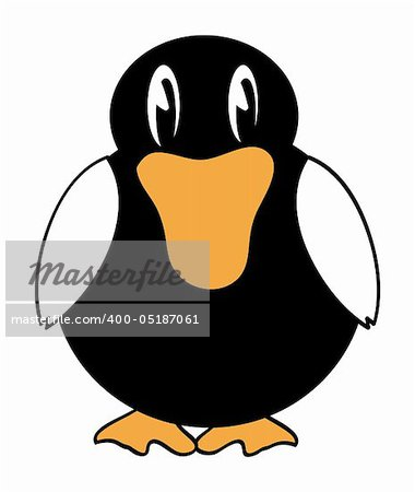 nice illustration of duck cartoon isolated on background Stock Photo - Budget Royalty-Free, Image code: 400-05187061