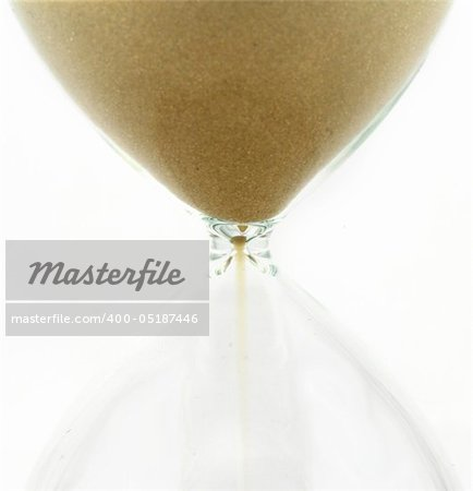 Hourglass detail  isolated on a white background Stock Photo - Budget Royalty-Free, Image code: 400-05187446
