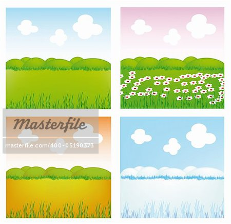 very nice illustration of four season (spring, summer, autumn, winter) Stock Photo - Budget Royalty-Free, Image code: 400-05190373