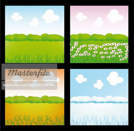 very nice illustration of four season (spring, summer, autumn, winter) Stock Photo - Budget Royalty-Free, Image code: 400-05190374