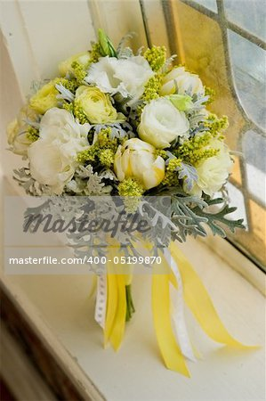 Image of a beautiful floral bouquet in window sill Stock Photo - Budget Royalty-Free, Image code: 400-05199870