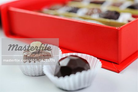 luxury and sweet praline and chocolate decoration food close up Stock Photo - Budget Royalty-Free, Image code: 400-05211776