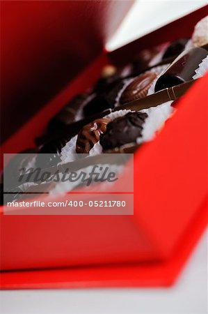 luxury and sweet praline and chocolate decoration food close up Stock Photo - Budget Royalty-Free, Image code: 400-05211780