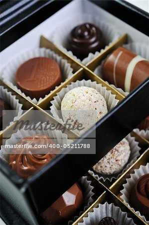luxury and sweet praline and chocolate decoration food close up Stock Photo - Budget Royalty-Free, Image code: 400-05211788