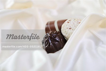 luxury and sweet praline and chocolate decoration food close up Stock Photo - Budget Royalty-Free, Image code: 400-05211817