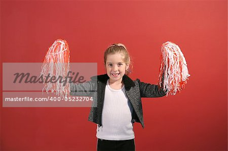 cheerleader child center Stock Photo - Budget Royalty-Free, Image code: 400-05232704