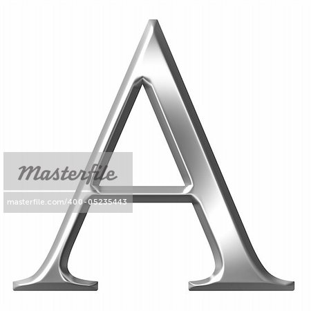 3d silver Greek letter Alpha isolated in white Stock Photo - Budget Royalty-Free, Image code: 400-05235443