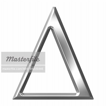 3d silver Greek letter Delta isolated in white Stock Photo - Budget Royalty-Free, Image code: 400-05235445