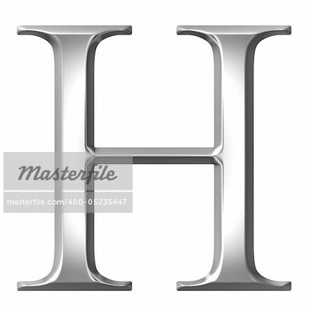 3d silver Greek letter Eta isolated in white Stock Photo - Budget Royalty-Free, Image code: 400-05235447