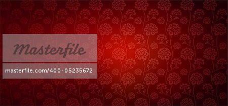 illustration drawing of beautiful red flower pattern Stock Photo - Budget Royalty-Free, Image code: 400-05235672